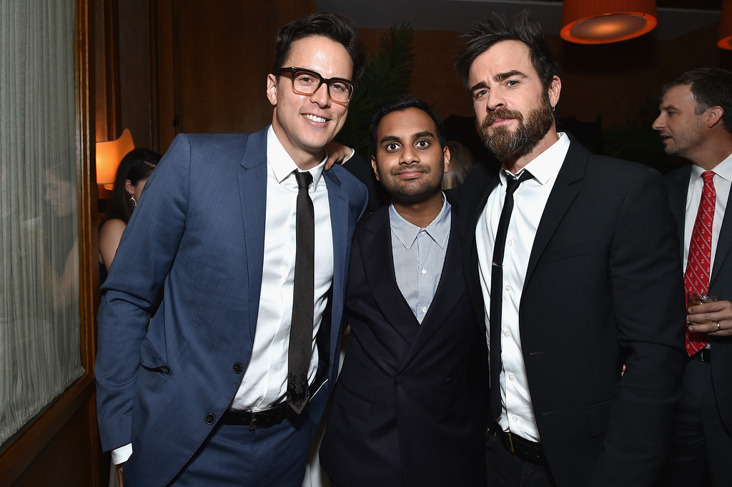 . Cary Fukunaga, Aziz Ansari and Justin Theroux attend The 75th Annual Peabody Awards Ceremony at Cipriani Wall Street on May 21, 2016 in New York City.  (Photo by Mike Coppola/Getty Images for Peabody Awards)