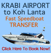 Krabi Airport To Koh Lanta Express Fast Speedboat Transfer