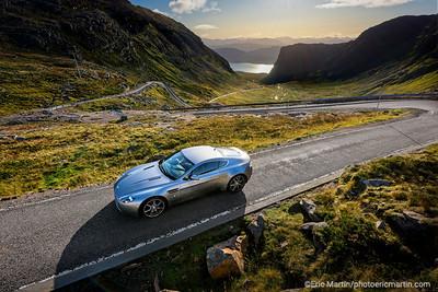 Ecosse, la route 500 en Aston Martin de James Bond