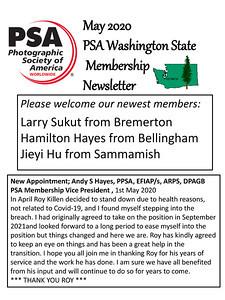 2020 May PSA Newsletter