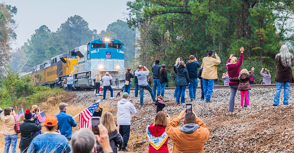 George H Bush funeral train in Texas