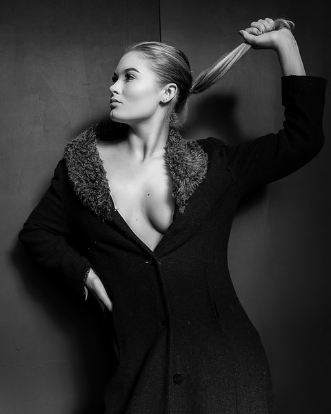 There is an art to making something look good, when on a hanger, it's just a black coat. * * Model: L A R A - J A N E * *