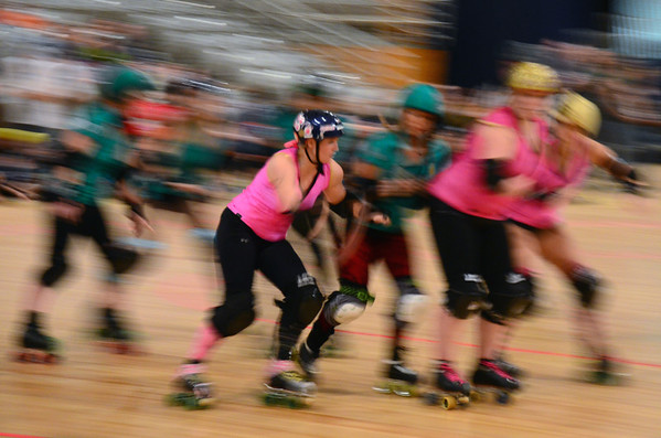With the DC RollerGirls, December 8, 2012