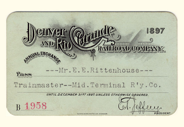 D&RG Railroad 1897