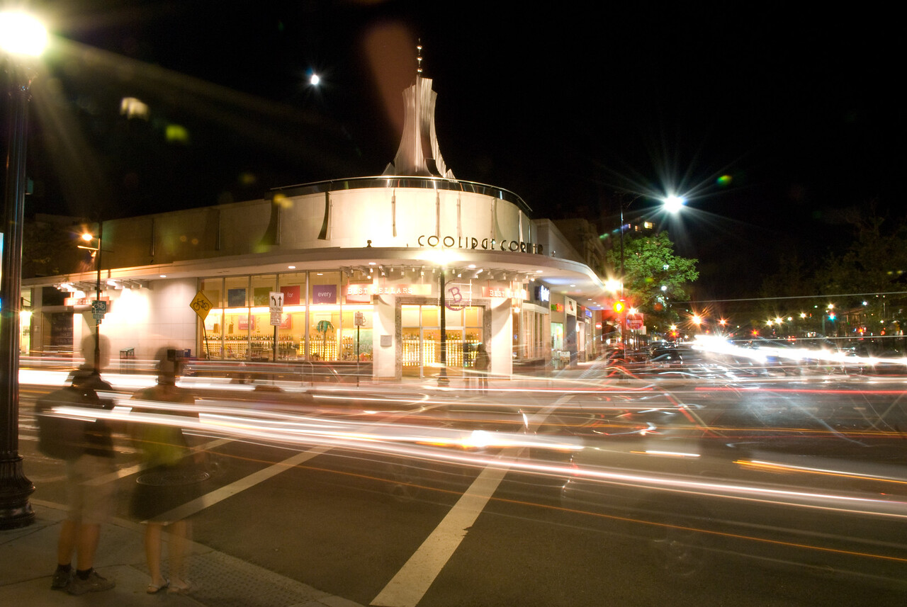 Coolidge Corner @ night.