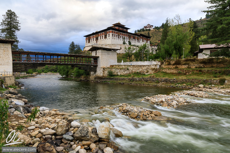 The Dzong, the bridge, and the river