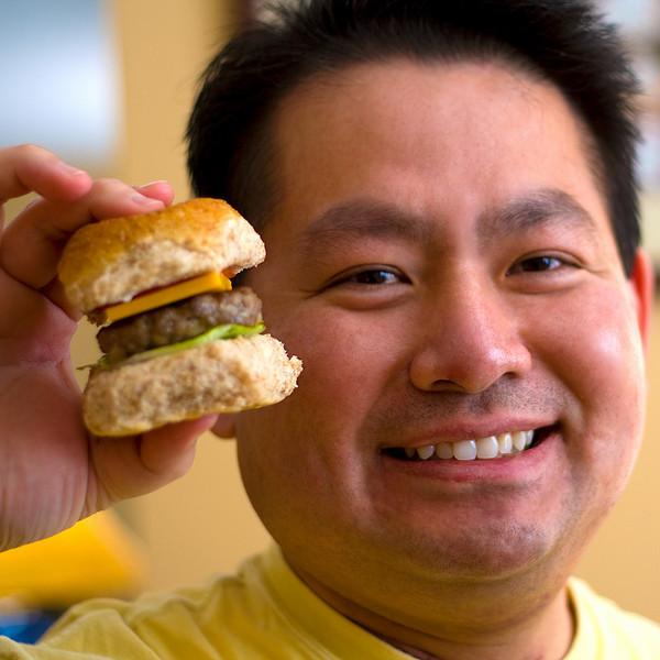 home made mini burgers