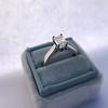 1.00ct Emerald Cut Diamond Solitaire, Platinum 15