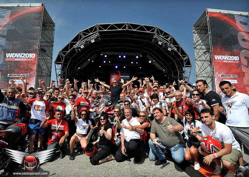 It all started here, WDW2010 - the World Ducati Week event at Misano in June 2010....a warm send off for Paolo