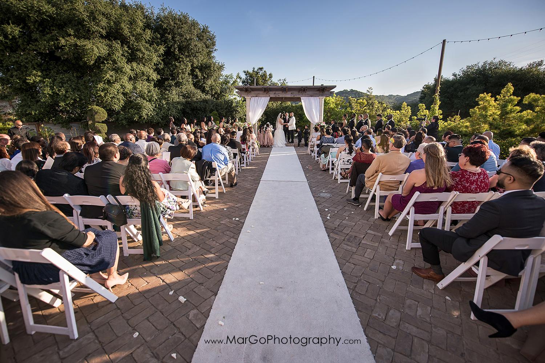 wedding ceremony at Sunol's Casa Bella