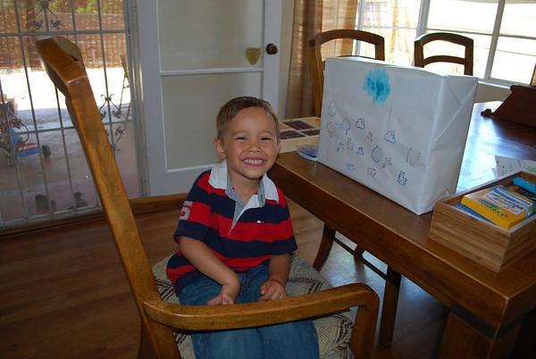 Decorating Gage's Birthday Present