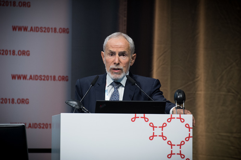 22nd International AIDS Conference (AIDS 2018) Amsterdam, Netherlands   Copyright: Marcus Rose/IAS  Photo shows: STI 2018. Key and Marginalised Populations. Speaker: Ken Mayer.