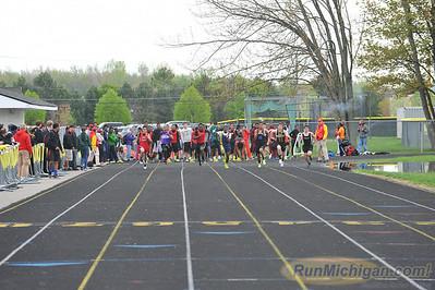 Boys 100 Meter Semis - 2014 MHSAA Region 24-3 (Macomb Lutheran North)