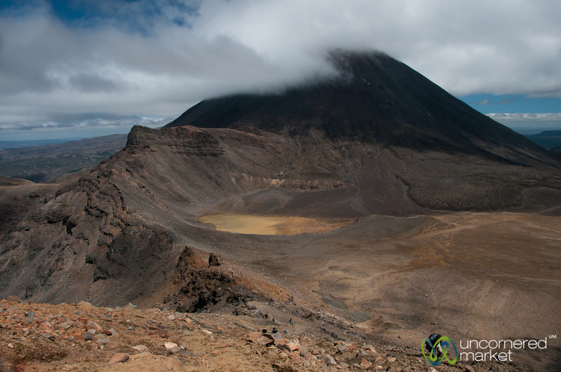 Tongariro Crossing Trek, Looking Down Over Mordor - New Zealand
