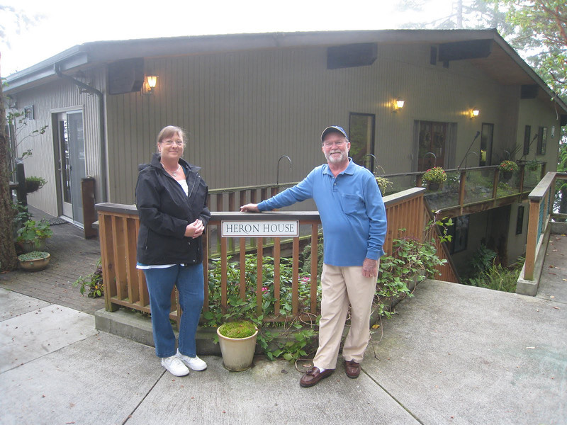Cindy and David in front of the Heron House