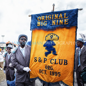 Chosen Ones Brass Band with Big Nine and Go Getters Social Aid & Pleasure Clubs and Ladies of Unity LLC parade (Fri 4/28/17)