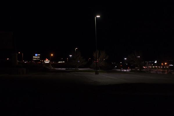 Upper East Parking Lot Lights (temporary)