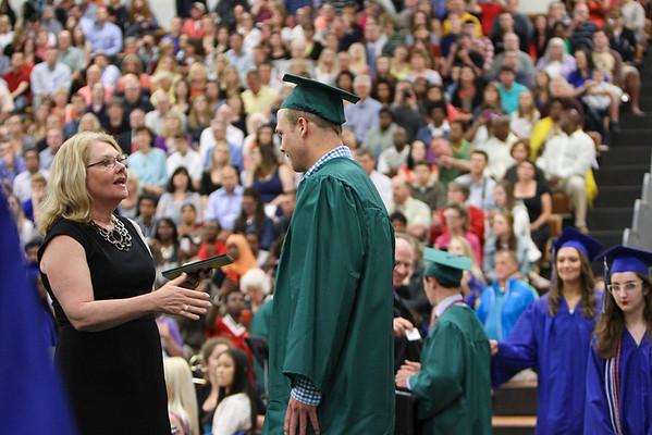 2014 Graduation - Receiving Diplomas