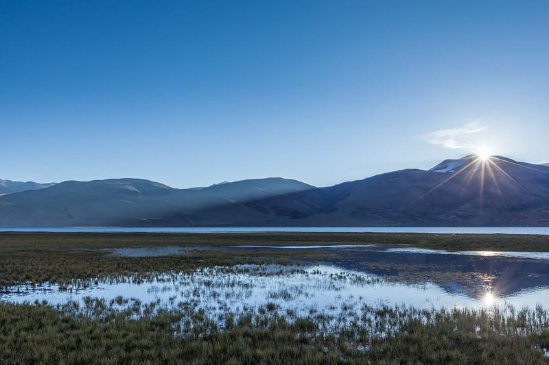 Sunrise at Tso Morir. Ladakh, India