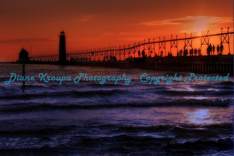 Grand Haven light, Grand Haven, MI.  Photo #150