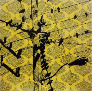 "Criss Crossing the City, 20"" x 20"", 2012 (available)"