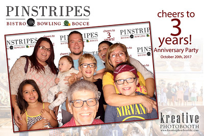 """October 20, 2017 Pinstripes """"3 Years Anniversary Party"""""""