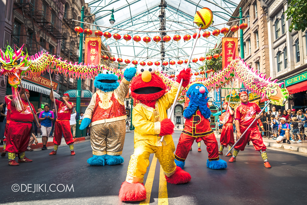 Universal Studios Singapore Park Update February 2018 Chinese New Year - Majestic Dragon Trail / Elmo Finale