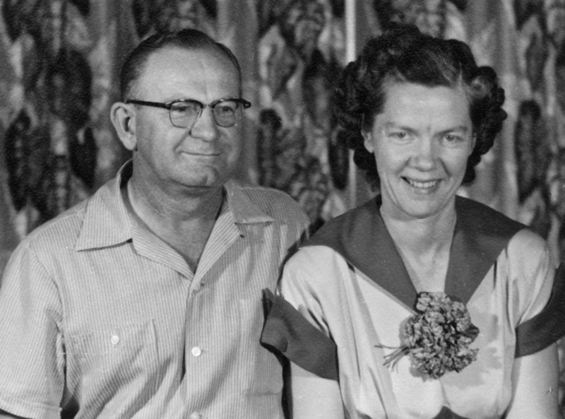 Abe and Susie Isaac. Dad's sister. 1953