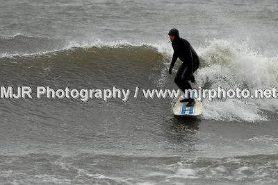 Surfing, Gilgo Beach, NY,  (3-15-07)