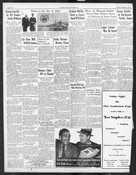 Daily Trojan, Vol. 26, No. 103, March 26, 1935