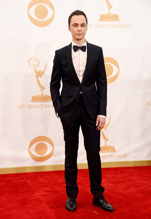 . Actor Jim Parsons arrives at the 65th Annual Primetime Emmy Awards held at Nokia Theatre L.A. Live on September 22, 2013 in Los Angeles, California.  (Photo by Frazer Harrison/Getty Images)
