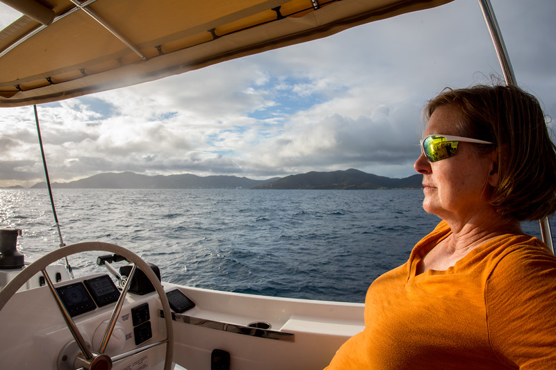 Captain Linda on the lookout.