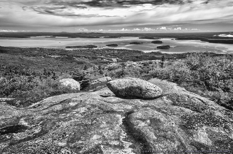 View of Bar Harbor from Cadillac Mountain - Acadia National Park, Maine