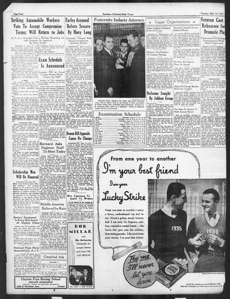 Daily Trojan, Vol. 26, No. 136, May 14, 1935