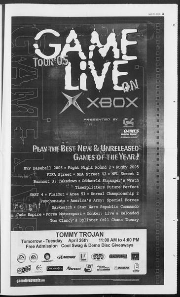 Daily Trojan, Vol. 154, No. 64, April 25, 2005