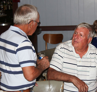 Charlie Littrel (also known by some as Mr. Pam Chicoine) talks with Dennis Boggs.