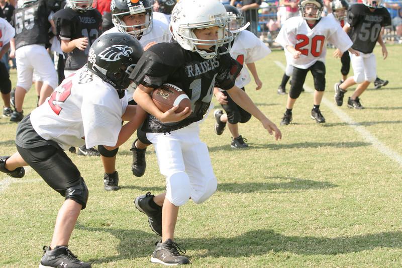 Raiders Black PeeWee jr 9-22-07