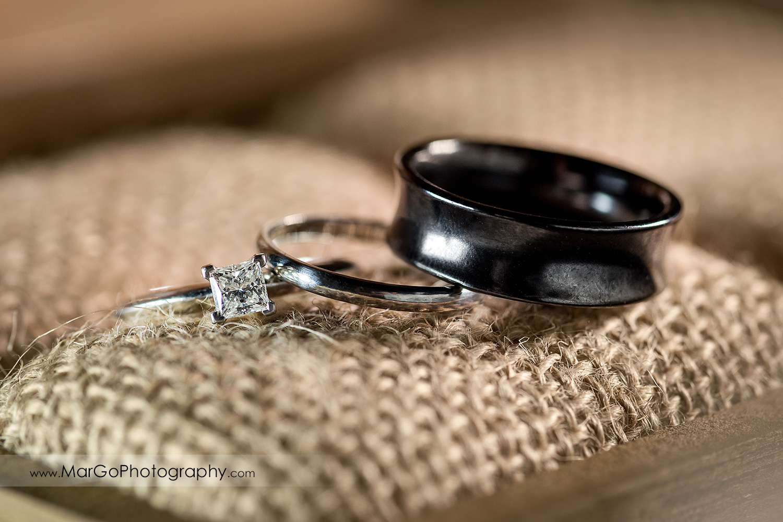 wedding rings at Mt Hamilton GrandView Restaurant in San Jose