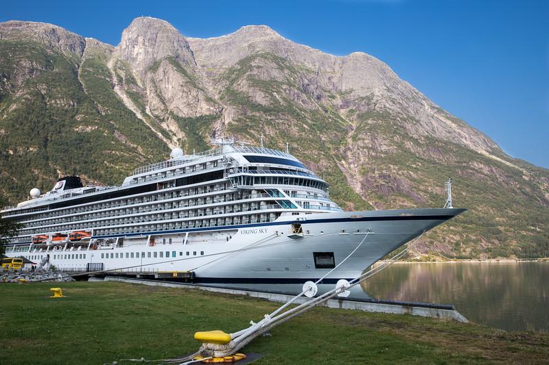 The Viking Sky at Eidfjord