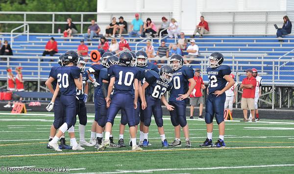 8th Grade Football Action