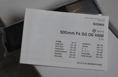 Sigma 500mm f/4 DG OS HSM Sports Lens for Canon EF 4 sale