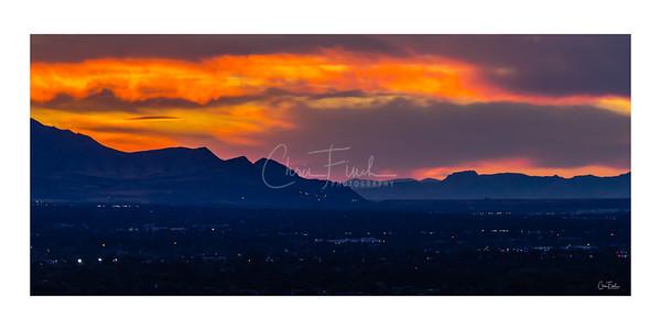 Salt Lake Valley Sunset, Utah
