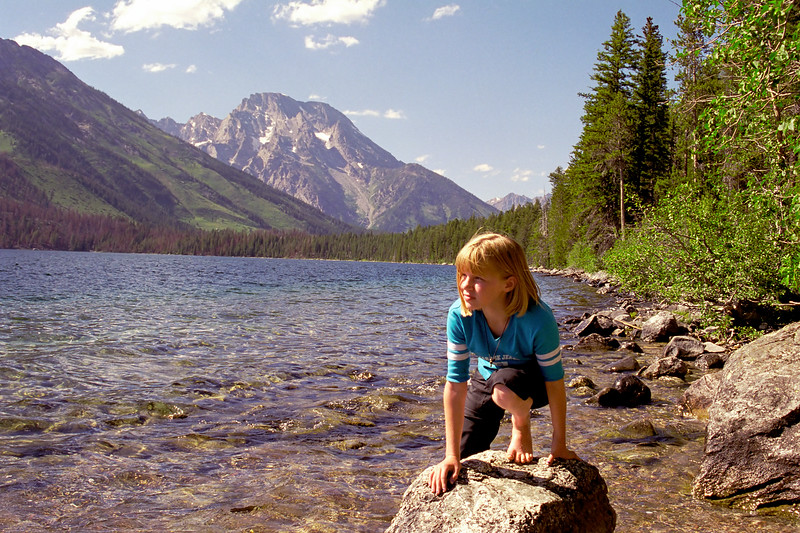 Helen at Jenny Lake in Grand Tetons National Park.