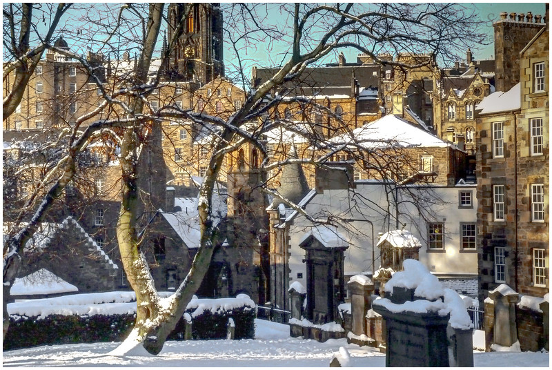 the Old Town from Greyfriars Kirkyard