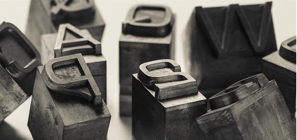 Post-modern typefaces - Caratteri post-moderni