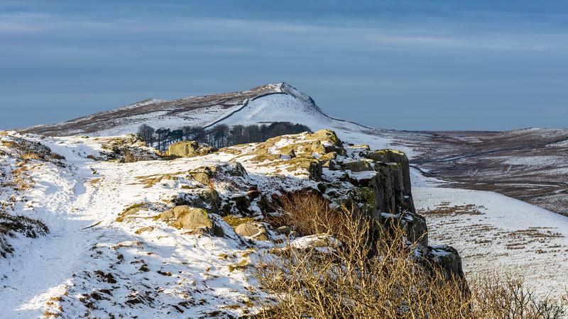 Snow on Hadrian's Wall path