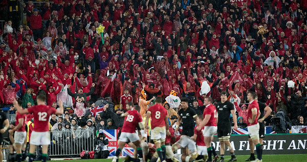 Lions win 24-12 during game 9 of the British and Irish Lions 2017 Tour of New Zealand, the second Test match between  The All Blacks and British and Irish Lions, Westpac Stadium, Wellington, Saturday 1st July 2017 (Photo by Kevin Booth Steve Haag Sports)  Images for social media must have consent from Steve Haag
