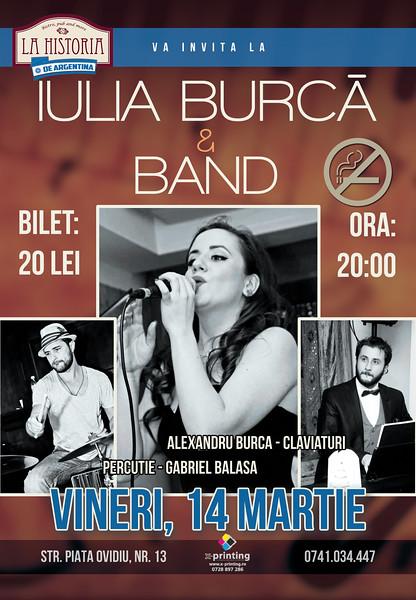 Concert Iulia Burca Band