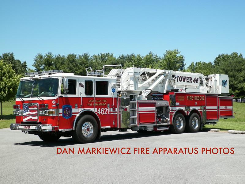 EAST ALLEN TOWNSHIP FIRE DEPT. TOWER 4621 2012 PIERCE TOWER LADDER