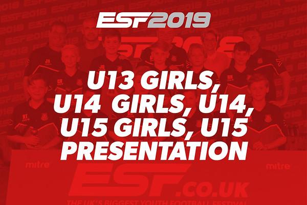 U13 GIRLS, U14 GIRLS, U14, U15 GIRLS, U15 PRESENTATION